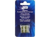 Resim Anspitzer doppelt aus Aluminium, geblistert, für normale und große Stifte geeignet