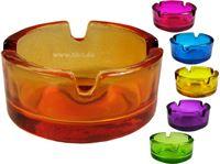 Resim Aschenbecher Glas, 6farbig sortiert, d 7 cm