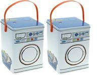 Picture of Blechdose für Waschmittel LBH 15x15x21 cm, im Waschmaschinenlook