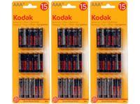 Picture of Batterien AAA 1,5 V, 15 Stück auf einem Blister, Zink Chlorid, deutsches Markenware Kodak