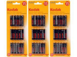Bild von Batterien AAA 1,5 V, 15 Stück auf einem Blister, Zink Chlorid, deutsches Markenware Kodak