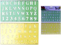 Picture of Zeichenschablonen Buchstaben 2 Stück im, Headerbeutel mit Klein- und Großbuchstaben
