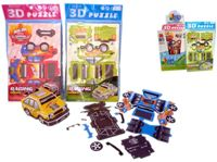 Resim Auto 3D Puzzle, 4 fach sortiert, im Headerbeutel, 15 x 26cm, im 48er Display