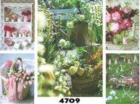 Picture of Blanco-Karte mit Frühlings- und Sommerblumen, einzeln mit Umschlag in Cellophan verpackt