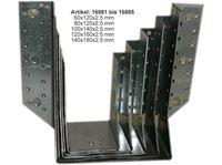 Picture of Balkenschuhe außenliegend 60x100 x 2,0 mm, verzinkt und gestempelt: CE 0432