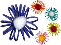 Picture of Blüten aus Rattan, 9er Pack im Polybeutel, Maße: 4,5x4,5x1,5 cm, enthält Blüten in 5 Farben