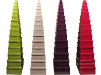 Picture of Boxenset Kartonage 15tlg. Uni-Farben, kleine Box: 9x5x5cm bis große Box: 37x30x15 cm