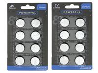 Resim Batterien Lithium Knopfzellen CR2032 8er Pack, werden unteranderem für LED Teelichter gebraucht