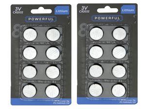 Obrazek Batterien Lithium Knopfzellen CR2032 8er Pack, werden unteranderem für LED Teelichter gebraucht