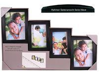 Picture of Bilderrahmen Galerie für 4 Fotos HBT:21x56x4cm für, Fotos: 2x 10x15, 2x 13x18cm Serie Wave schwarz