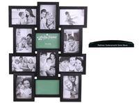 Picture of Bilderrahmen Galerie für 12 Fotos HBT:56x45x3cm, Fotogröße 10x15cm, Serie Wave schwarz