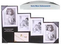 Picture of Bilderrahmen Galerie für 4 Fotos HBT:21x56x4cm für, Fotos: 2x 10x15, 2x 13x18cm Serie Wave weiß