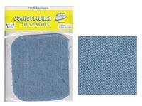 Picture of Bügel-Jeansflicken Farbe hellblau 9,5 x 10,5 cm, im Headerbeutel
