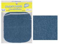 Picture of Bügel-Jeansflicken Farbe mittelblau 9,5 x 10,5 cm, im Headerbeutel