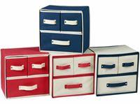 Resim Aufbewahrungsbehälter, 4 fach sortiert, mit 3 Schubladen, ca. LBH 30x25x30 cm