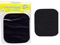 Picture of Bügel-Jeansflicken Farbe schwarz 9,5 x 10,5 cm, im Headerbeutel
