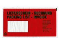 Picture of Begleitpapiertaschen, DIN lang, 240/117,5 + 22,5mm, 450 mm breit, 300 m lang, transparent