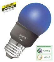 Image de Energiesparlampe bunt E27 Sparlampe Mini Globe blau 5 Watt - 25 Watt
