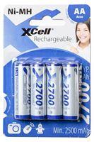 Bild von Batterie AA NiMH XCell HR6 1,2V 2700mAh 4er Pack