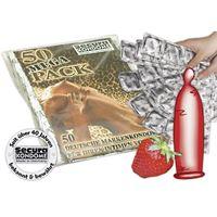 Resim 50 Kondome mit Erdbeergeschmack