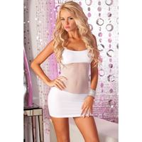 Picture of Adrenaline seamless net dress White
