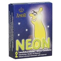 Εικόνα της AMOR Neon Glow in the Dark Kondome - 2 Stück
