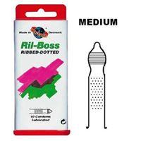 Resim 100 Kondome mit Riffeln und Noppen
