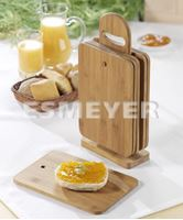 Afbeelding van 6er Set Frühstücksbrettchen TIMO aus Bambusholz