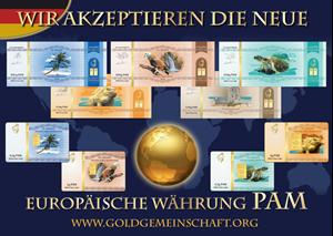 Изображение Download: Die neuen Aufkleber: Wir akzeptieren die neue europaische Währung PAM