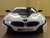 "Resim Kinderfahrzeug - Elektro Auto - ""BMW i8 - iVision"" - lizenziert mit 2x 12V Motoren- weiss"