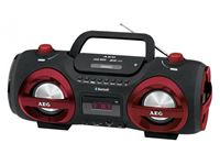 Resim AEG Stereo Radio Soundbox CD/MP3 mit Bluetooth SR 4359 BT (rot)