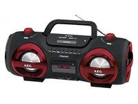 Resim AEG Stereo Radio Soundbox CD/MP3 mit Bluetooth SR 4359 BT (rot)