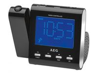 Resim AEG Funkuhrenradio mit Projektion MRC 4122 F N Schwarz