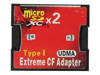 Resim CF Card Adapter Extreme Type I für 2x MicroSD/SDHC/SDXC (Blister)