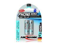 Resim Akku Ansmann AA Mignon 1300mAh PHONE DECT (2 Stk)