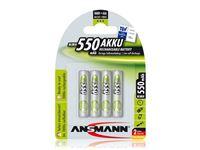 Resim Akku Ansmann AAA Micro 550mAH maxE+ (4 Stk)