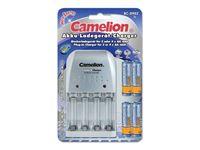 Bild von Camelion Universal Ladegerät (BC-0902) + 4x AA 2500