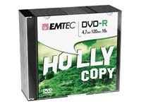 Obrazek EMTEC DVD-R 4,7 GB 16x Speed - 10stk Slim Case