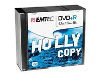 Obrazek EMTEC DVD+R 4,7 GB 16x Speed - 10stk Slim Case