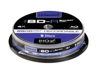 Resim Intenso BD-R Recordable 25GB 4x Speed - 5stk Cake Box