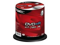 Picture of EMTEC DVD+R 4,7 GB 16x Speed - 100stk Cake Box