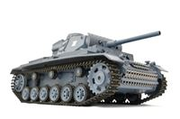 """Immagine di RC Panzer """"Kampfwagen III"""" 1:16 Heng Long -Rauch&Sound - mit 2,4Ghz Fernsteuerung"""
