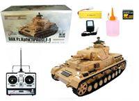 """Immagine di RC Panzer """"Kampfwagen IV Ausf.F-1"""" Heng Long 1:16 Grau mit Schussfunktion und 2,4Ghz Fernsteuerung"""