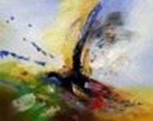 Picture of Abstract -  Tower of colors b85896 40x50cm abstraktes Ölbild handgemalt