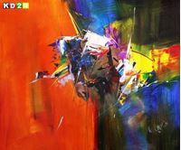 Picture of Abstract - Impact study c90089 50x60cm beeindruckendes Ölbild