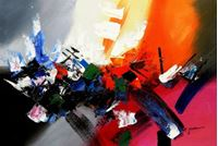 Picture of Abstract - New York sailing journey d89502 60x90cm abstraktes Ölgemälde handgemalt