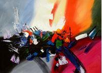 Picture of Abstract - New York sailing journey i89648 80x110cm abstraktes Ölgemälde handgemalt