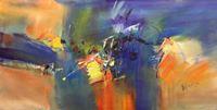 Picture of Abstract - New York sailing journey f90187 60x120cm abstraktes Ölgemälde handgemalt