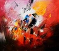 Picture of Abstract - Impact study c89878 50x60cm abstraktes Ölgemälde