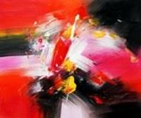 Picture of Abstract - clash of colors c89890 50x60cm abstraktes Ölgemälde